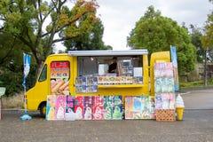 食物卡车在大阪城堡公园 免版税库存图片