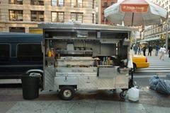 食物卡车的看法在NYC的 库存照片