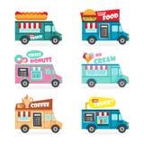 食物卡车集合 免版税库存照片