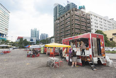 食物卡车,吉隆坡 图库摄影