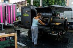 食物卡车 免版税库存图片