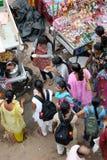 食物印第安场面街道 库存照片