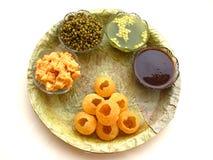 食物印第安pani puri 库存照片