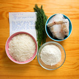 食物原始的物质 库存照片