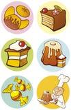 食物反对甜点 免版税库存图片