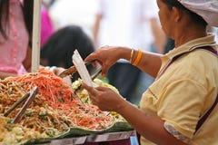 食物叫卖小贩 库存图片