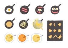 食物向量 库存例证