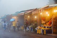 食物和纪念品市场在台湾 库存照片