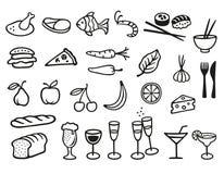 食物和饮料标志 库存照片
