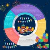 食物和饮料生日Infographic图 免版税库存照片