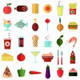 食物和饮料象传染媒介集合 免版税图库摄影