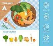 食物和维生素 向量例证