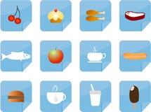 食物图标注意样式 免版税图库摄影