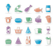 食物图标界面 库存照片