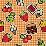 食物图标背景 向量例证