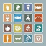 食物图标集 免版税库存照片