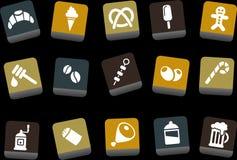 食物图标集 免版税图库摄影