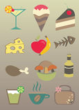 食物图标 免版税库存照片