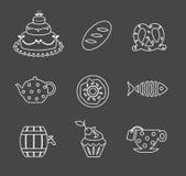 食物图标 库存例证