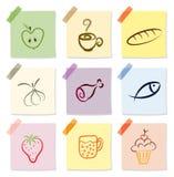 食物图标 免版税图库摄影