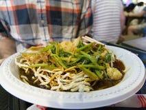 食物在本Thanh食物市场上在胡志明市在越南 免版税图库摄影
