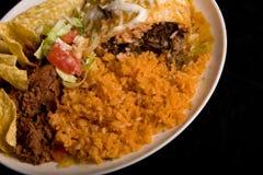 食物墨西哥牌照 免版税图库摄影
