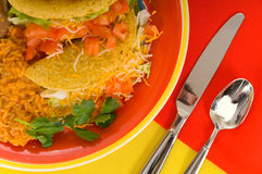 食物墨西哥牌照 库存图片