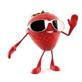 食物字符-草莓 皇族释放例证