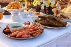 食物对神的薪水尊敬 免版税库存照片
