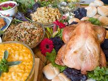食物巨大的传播 免版税库存图片
