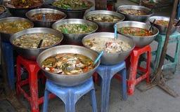 食物市场准备的泰国多种 图库摄影