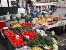 食物市场在克拉科夫 库存图片