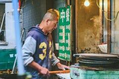 食物市场在北京,中国 免版税图库摄影