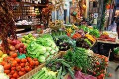 食物市场在意大利 免版税图库摄影