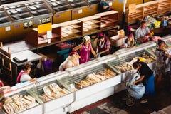 食物市场在戈梅利 这是现有的食品批发市场的例子 免版税库存照片