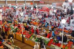 食物市场在戈梅利 免版税库存图片