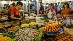 食物市场在曼谷,泰国 库存照片