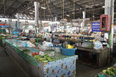 食物市场在清迈-泰国 免版税库存图片