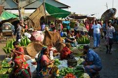食物市场在达卡,孟加拉国 免版税库存图片