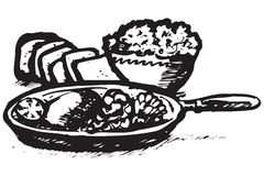 食物希腊图标 图库摄影
