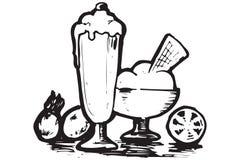 食物希腊图标 免版税库存图片