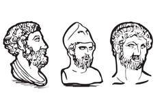 食物希腊图标 免版税图库摄影
