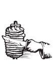 食物希腊图标 库存例证