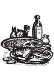 食物希腊图标 免版税库存照片