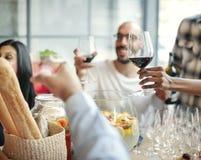 食物承办酒席烹调烹饪食家党欢呼概念 免版税库存照片