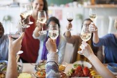 食物承办酒席烹调烹饪食家党欢呼概念 图库摄影