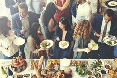 食物承办酒席烹调烹饪食家立食宴会概念 免版税库存图片