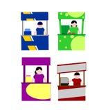 食物报亭 免版税库存图片