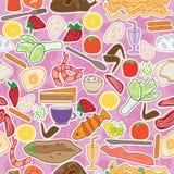 食物挑选无缝的Pattern_eps 免版税库存照片