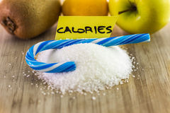 食物挑选概念,卡路里 免版税库存图片